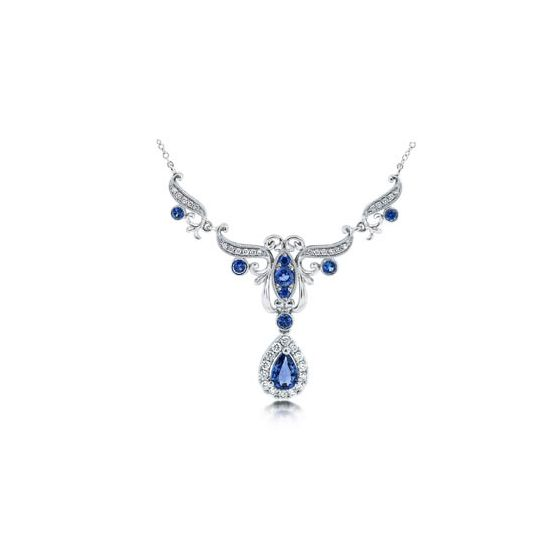 N2400SACYW Diamond and Sapphire Necklace